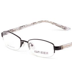 微微米经典合金眼镜架9957-07