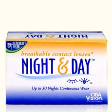 视康日夜型月抛隐形眼镜3片装(新老包装随机发)
