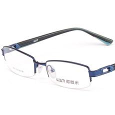 微微米商务合金眼镜架9870(4色)