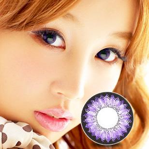 BESCON甜心美瞳年抛 一片装双色紫