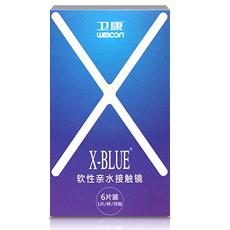 卫康x-blue月抛6片装
