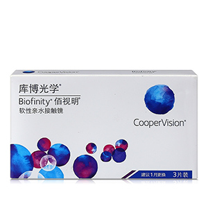 库博Biofinity佰视明月抛3片装