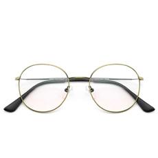 韩版圆框细边金属蓝光眼镜9023