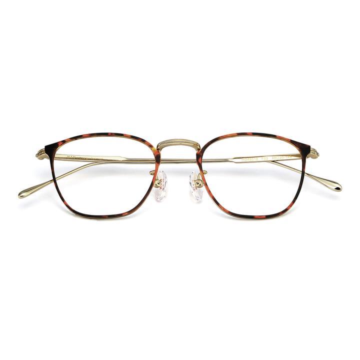 HAN纯钛光学眼镜架-玳瑁色(HD49318-F03)