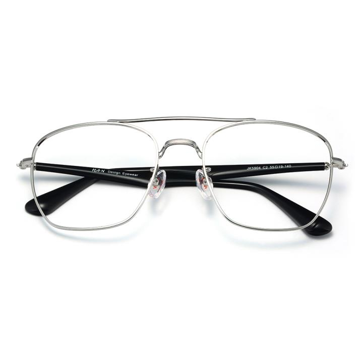 HAN不锈钢光学眼镜架-银色近视框(JK5904-C2)