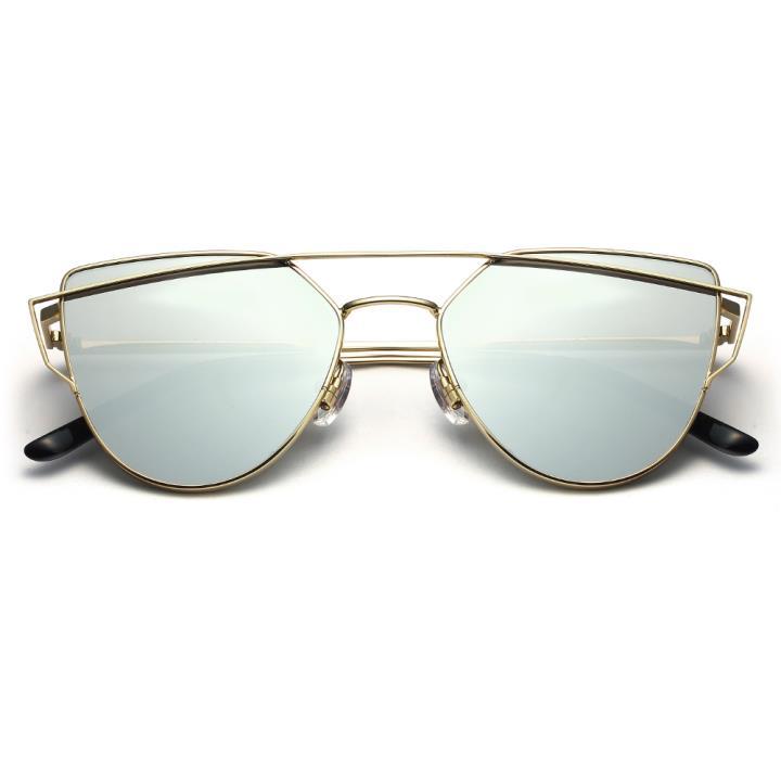 HAN RAZR-X9 不锈钢防UV太阳眼镜-金框银色片(HD59205-S17)