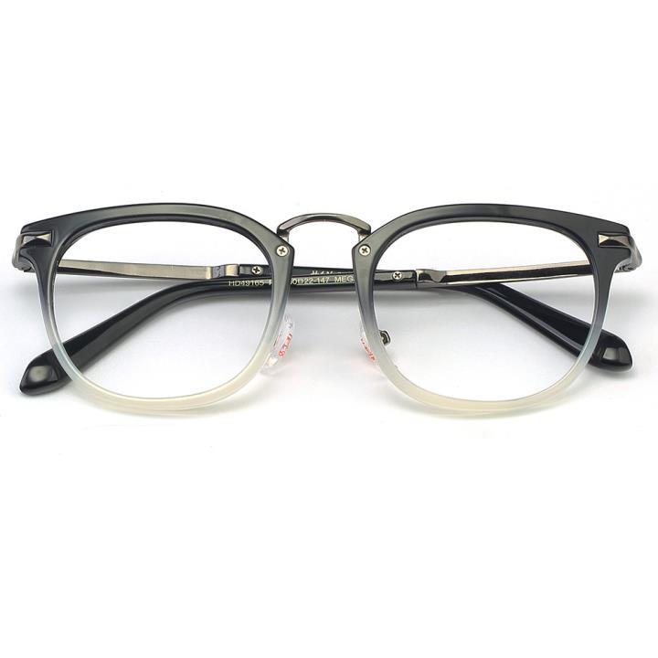 HAN MEGA-TR钛塑光学眼镜架-黑渐进灰(HD49165-C4)