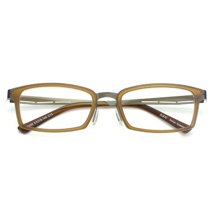 HAN尼龙不锈钢光学眼镜架-典雅茶色(B1009-C13)