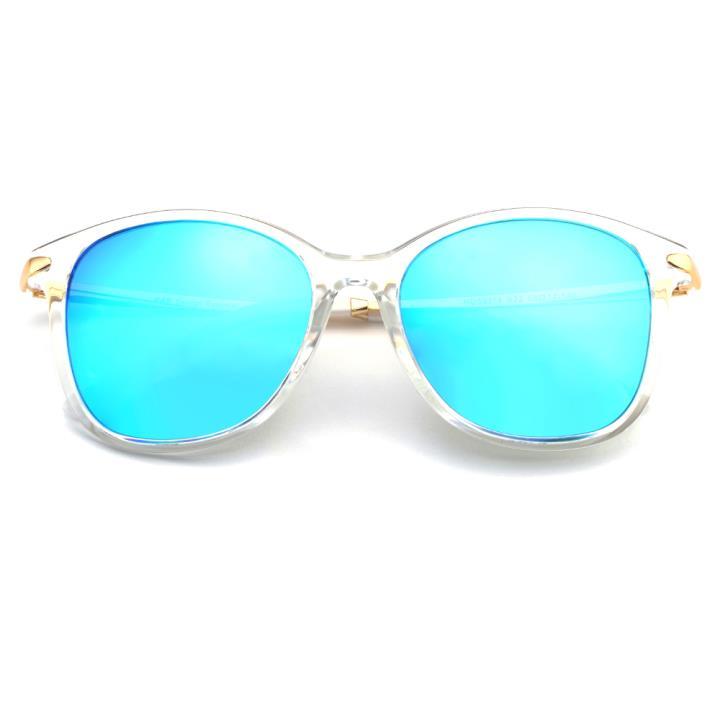 HAN PC白铜防紫外线太阳镜-透明框蓝色片(HD59314-S22)