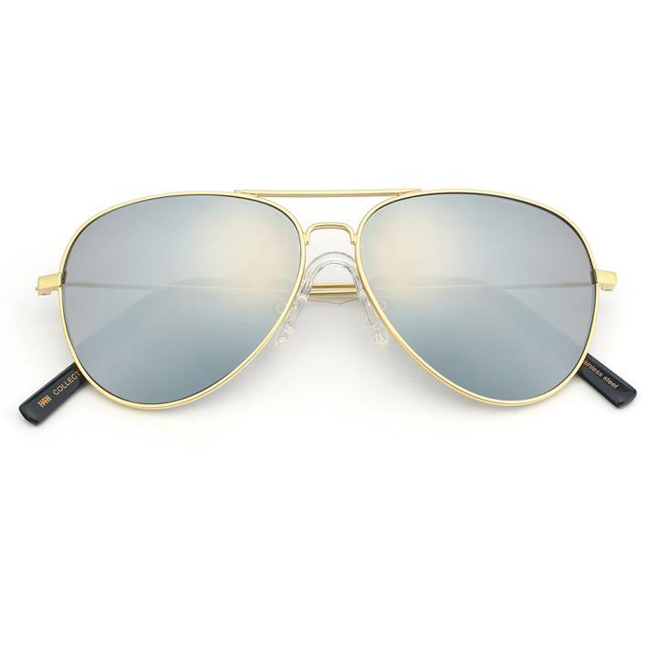 HAN COLLECTION不锈钢儿童太阳眼镜-金框水银片(HN52004 C2/M)