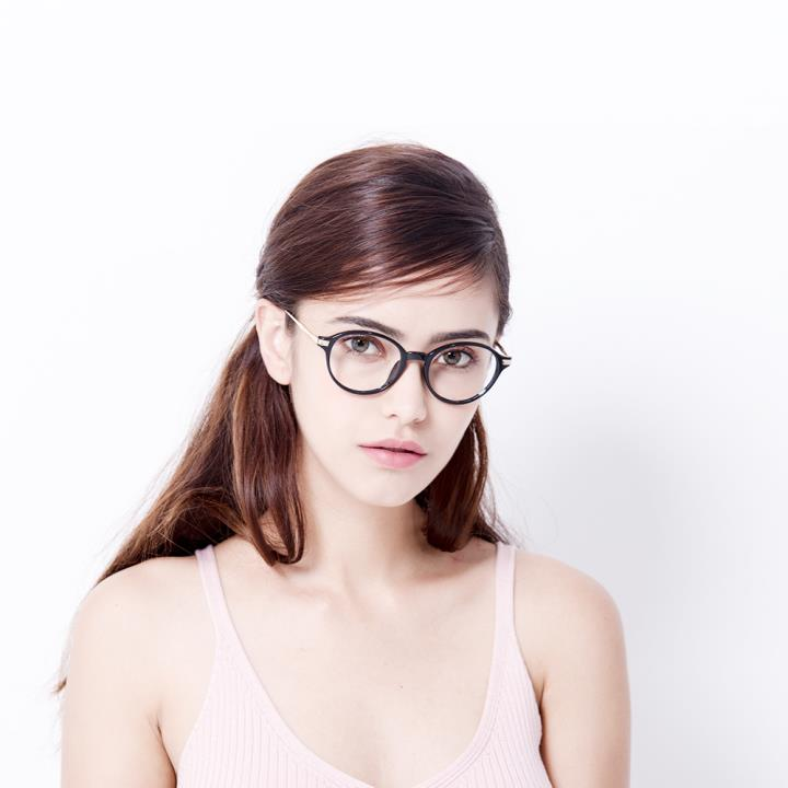 HAN MEGA-TR钛塑近视眼镜架-经典纯黑(HD2905-F01)