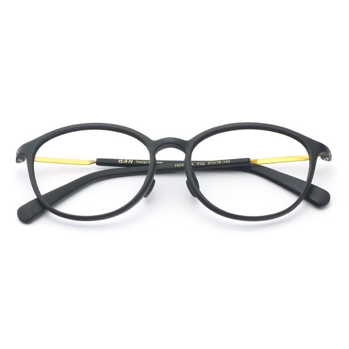 HAN TR板材光学眼镜架-质感哑黑(HD49154-F02 )