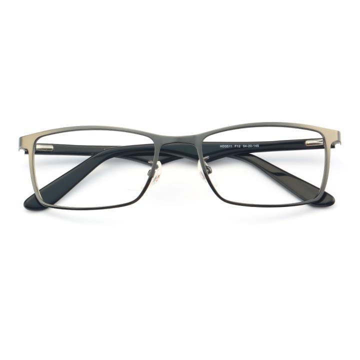 HAN不锈钢光学眼镜架-低调枪灰(HD3511-F12)