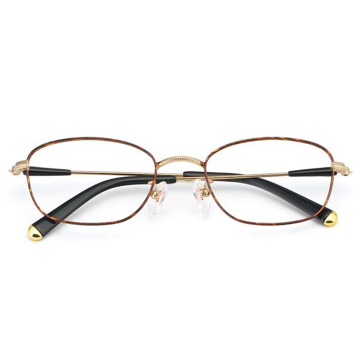 HAN合金光学眼镜架-典雅玳瑁(HN49363-C04)