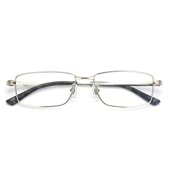 HAN纯钛光学眼镜架-银色(B8003-C4)