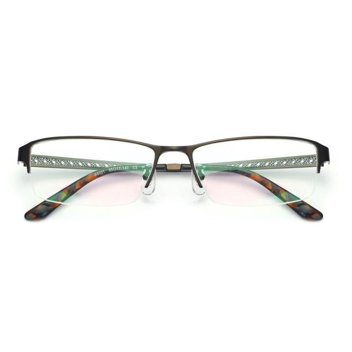 HAN纯钛光学眼镜架-咖啡色(B8001-C3)