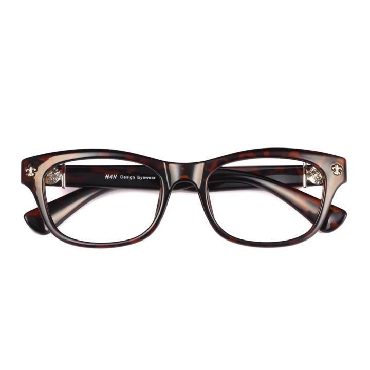 HAN克罗心MEGA-TR钛塑近视眼镜架-玳瑁色(HD2903-F03)