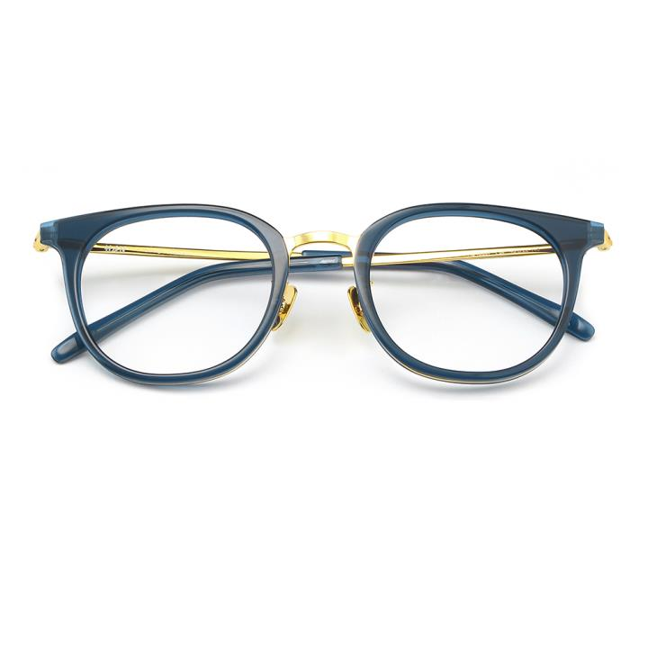 HAN板材金属光学眼镜架-深透蓝(HD49307-F07)