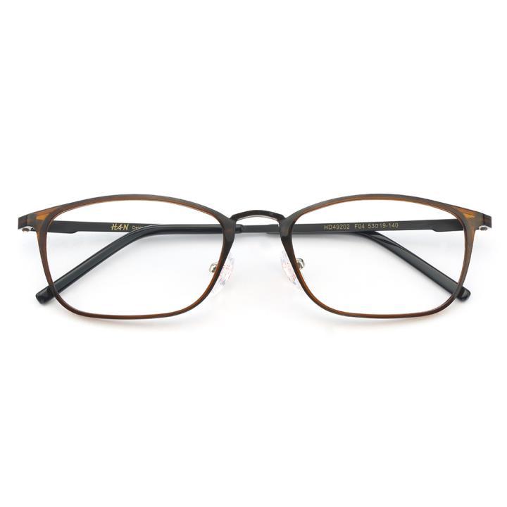 HAN MEGA-TR钛塑不锈钢光学眼镜架-复古棕色(HD49202-F04)
