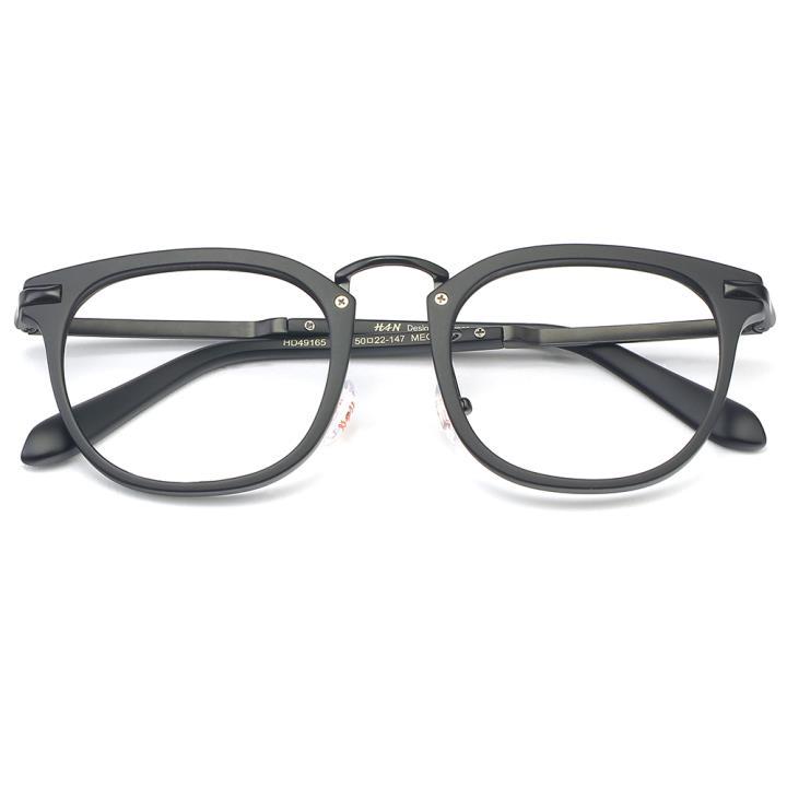 HAN MEGA-TR钛塑光学眼镜架-哑黑色(HD49165-C1)