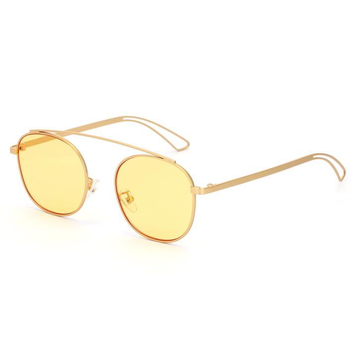 HAN SUNGLASSES防UV太陽眼鏡HN52065M C1 金框黃色片