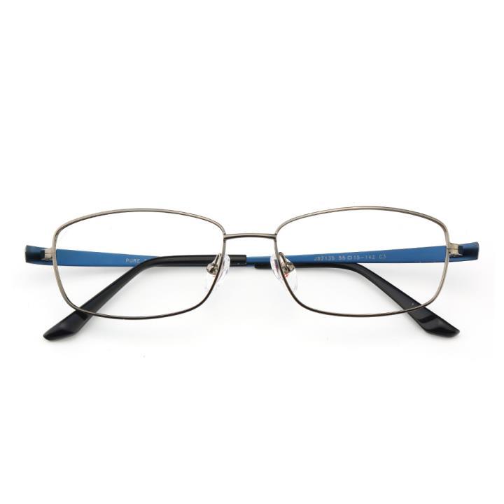 HAN纯钛光学眼镜架J82135-C3低调枪灰