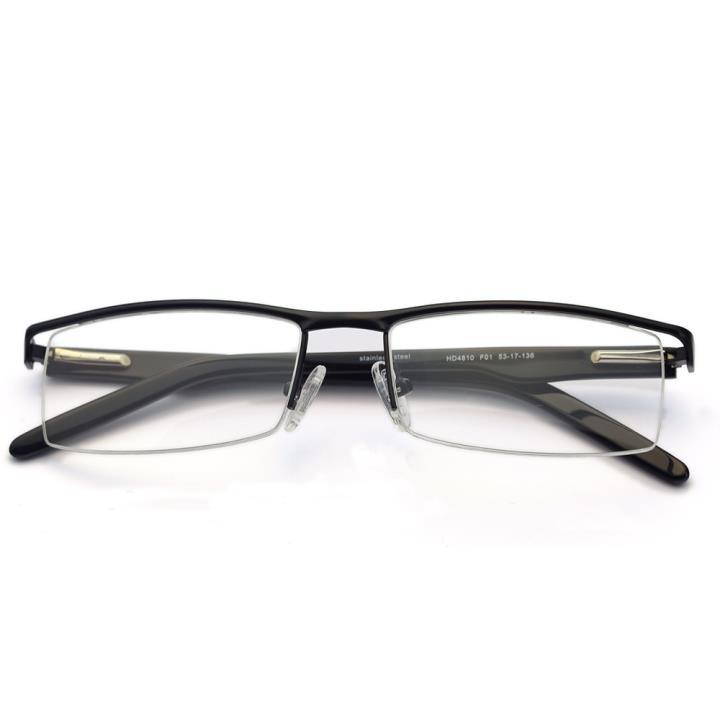HAN不锈钢光学眼镜架HD4810-F01 经典纯黑