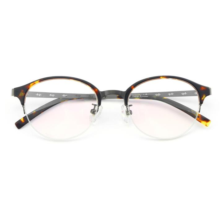 HAN纯钛板材光学眼镜架-复古玳瑁(5404-C2)