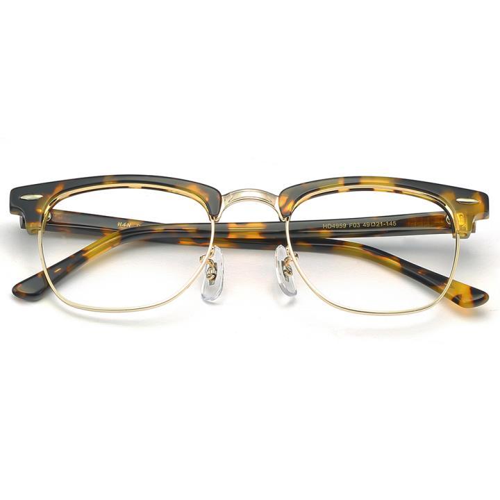 HAN板材不锈钢光学眼镜架-复古玳瑁(HD4959-F03)