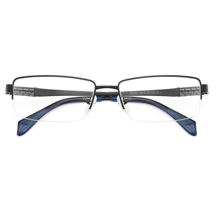 HAN纯钛光学眼镜架J81554-C2-4哑黑色
