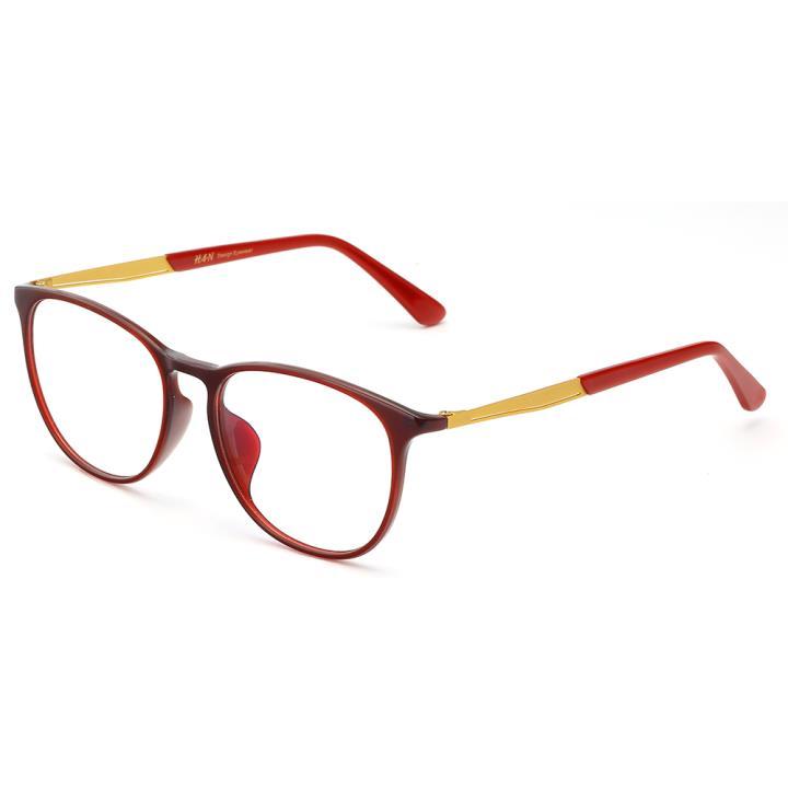 HAN MEGA-TR钛塑板材光学眼镜架-炫丽酒红(HD49150-F06)