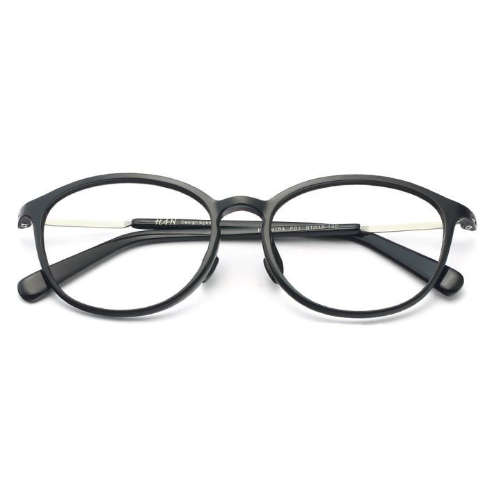 HAN TR板材光学眼镜架-经典亮黑(HD49154-F01 )
