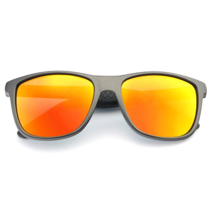 HAN MEGA-TR钛塑偏光太阳镜-哑灰镀膜橘(HN59410-C4)