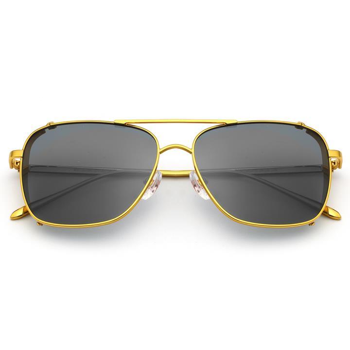 HAN RAZR-X9不锈钢偏光太阳眼镜-金框深灰片(HN51200 C4)