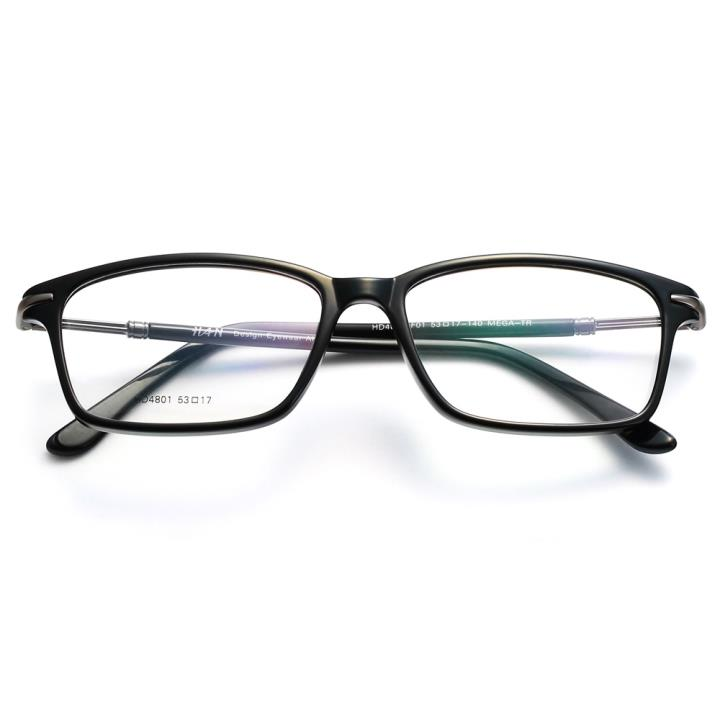 HAN时尚光学眼镜架-经典亮黑(HD4801-F01)