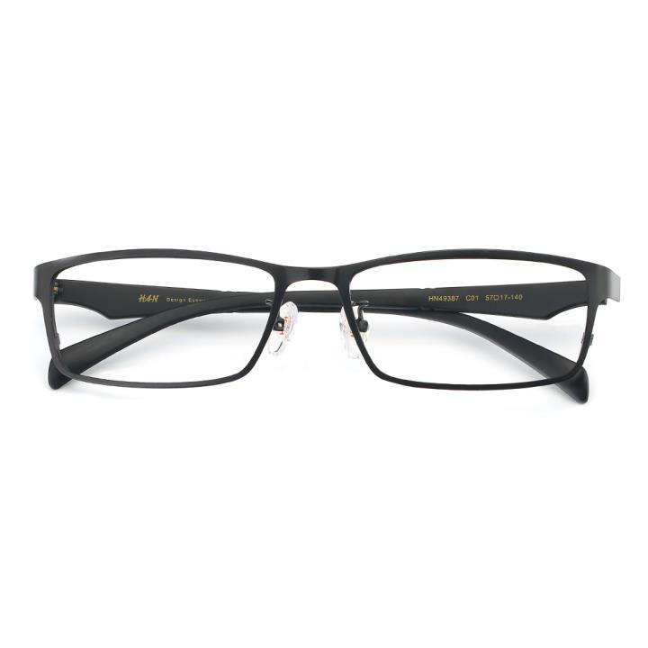 HAN合金TR光学眼镜架-经典哑黑(HN49387-C01)