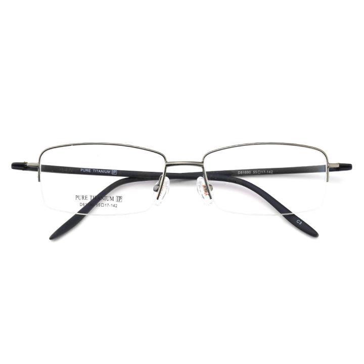 HAN纯钛光学眼镜架-低调枪灰(D81690-C3)