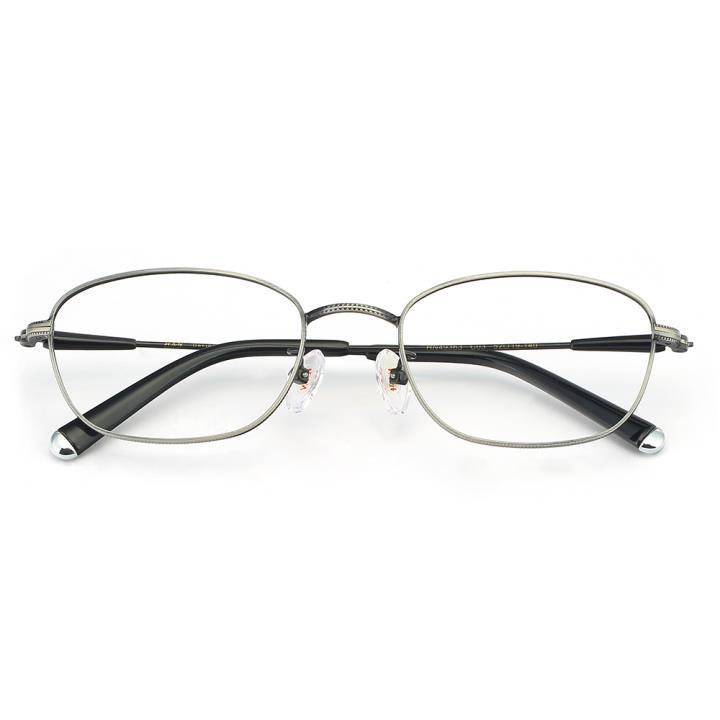 HAN合金光学眼镜架-复古哑银(HN49363-C03)