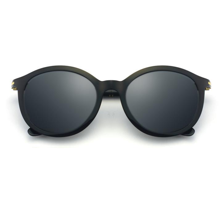HAN时尚偏光太阳镜-黑框黑灰片(HD5837-S01)
