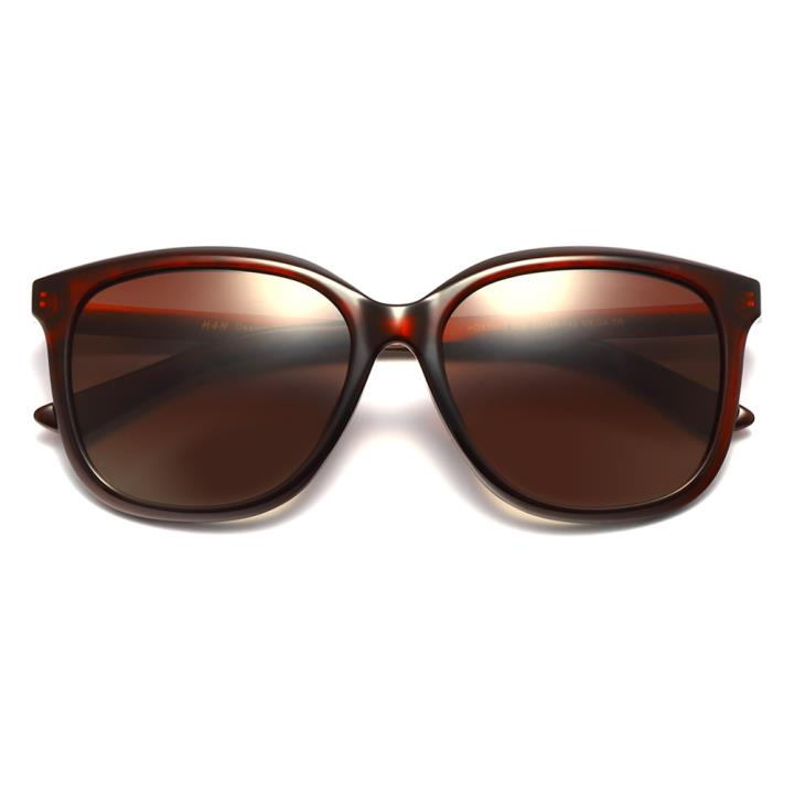 HAN时尚偏光太阳镜HDX5803-S06 酒红框茶色片