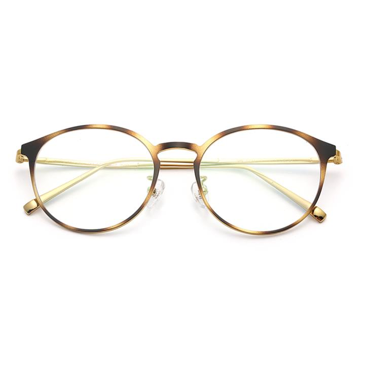 HAN TITANIUM纯钛光学眼镜架HN42093M C4 玳瑁金