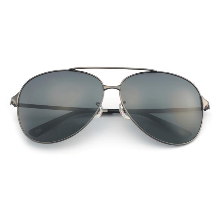 HAN不锈钢偏光太阳镜-枪灰黑灰片(HD5814-S01)