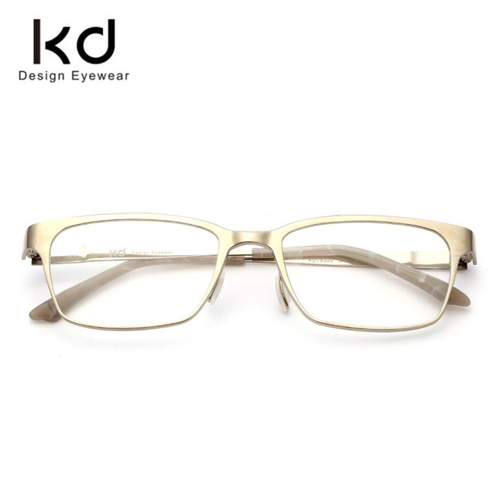 KD时尚光学眼镜架KD79320-C01 亮钛本色