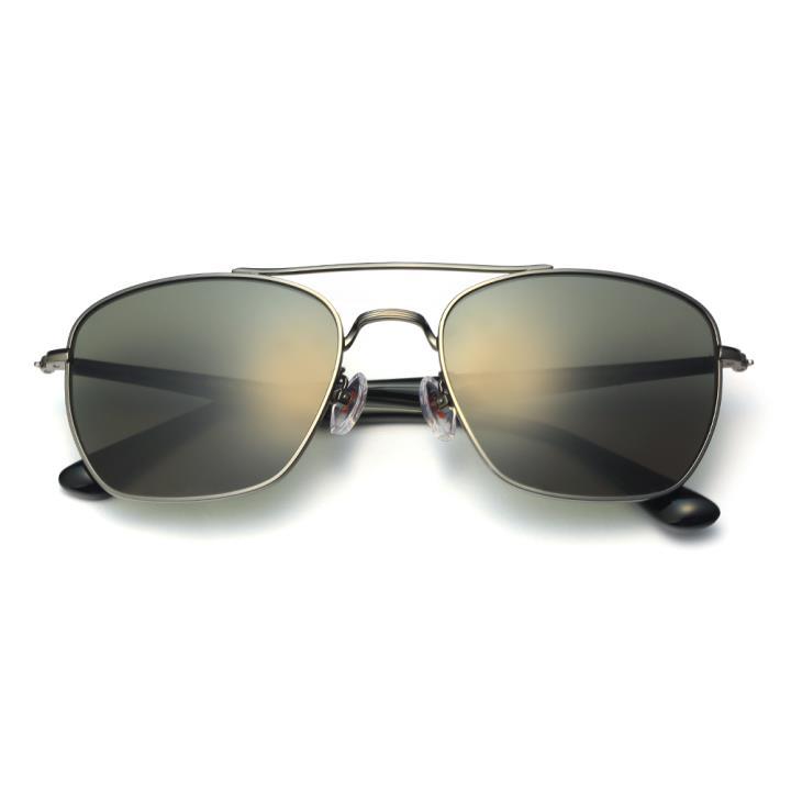 HAN不锈钢防紫外线太阳镜-枪框墨绿片(HD5904-S12)