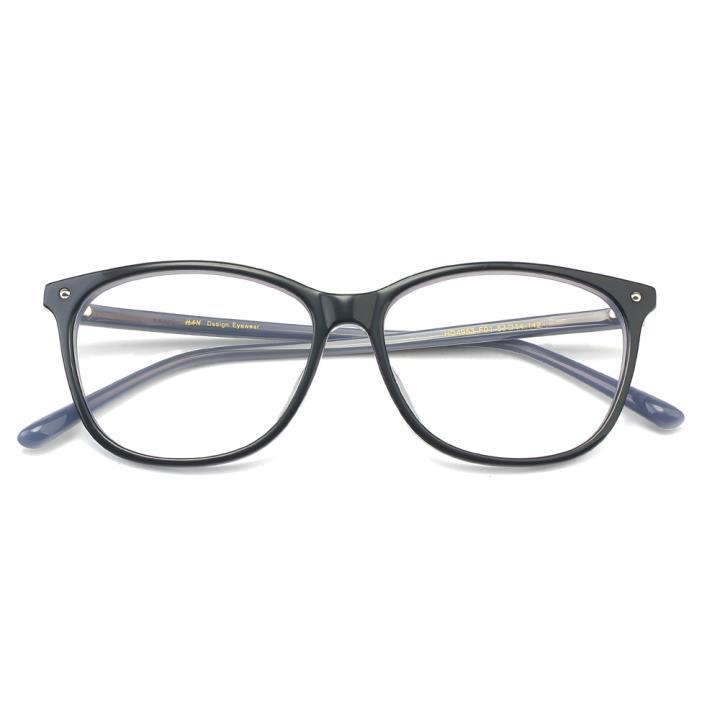 HAN板材时尚光学眼镜架-经典纯黑(HD4953-F01)