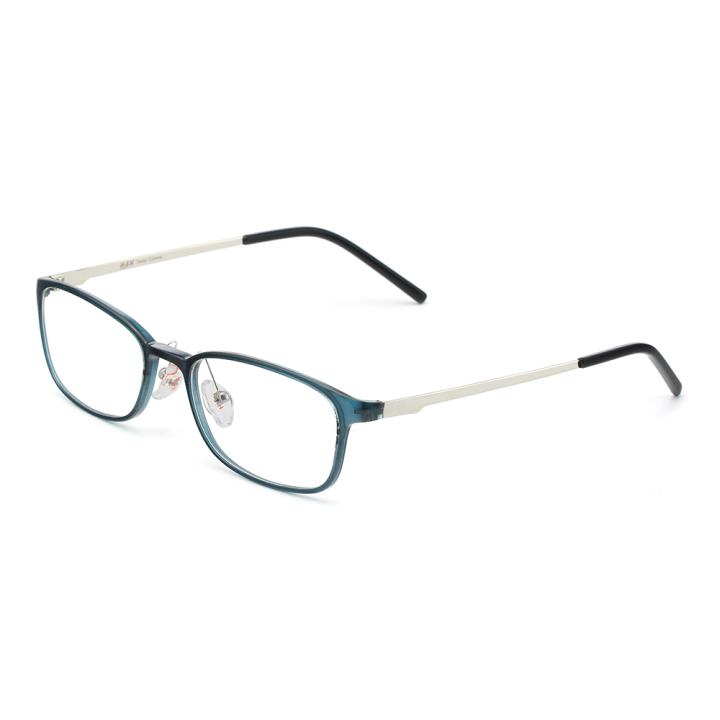 HAN MEGA-TR钛塑不锈钢光学眼镜架-清新蓝绿(HD49205-F15)