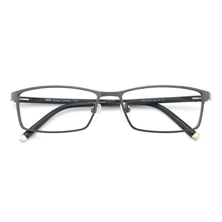 HAN金属TR光学眼镜架-深枪色(602-F16)