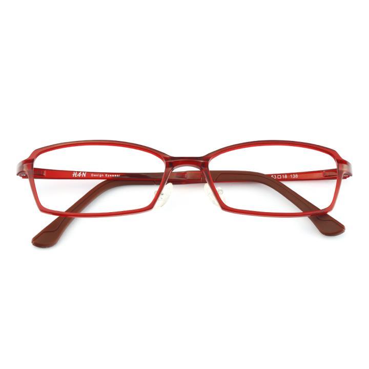 HAN塑钢时尚光学眼镜架-酒红色(HD4879-F06)