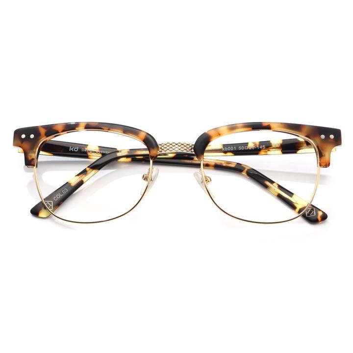KD设计师手制复古板材框架眼镜kd001-C3