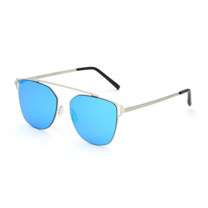HAN SUNGLASSES防UV太阳眼镜HN53021M C2 银框蓝色片